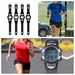 Pedometer Step Distance Calorie Counter Heart Rate Monitor Fitness Wrist Watch All in one 3D 4 colors 100pcs