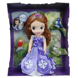 Wholesale DHL inch cm little princess sofia dolls Sofia Amber with animals collection Model Toy for kids gifts in stock