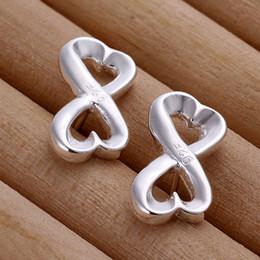 New Style Fashion 925 Sterling Silver EARRINGS Bowknot Shape Women's Stud Earrings Jewelry E049