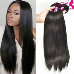 Brazilian Peruvian Malaysian Indian Straight Human Hair Weaves 7a Malaysian Remy Hair Extentions 4Bundles Wholesale Price Best Quality Hair
