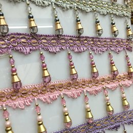 Wholesale Curtain lace curtain accessories accessories crystal beaded tassels large lamp beads