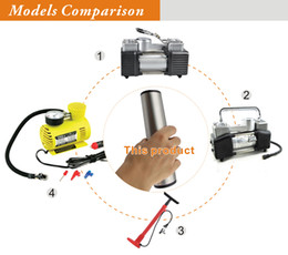 Wholesale Fast Inflating Mini Electric Tyre Inflator DC V Portable Digital Electric Car Compressor Pump with LED Light DHL Free