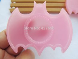 50pcs Transparent Pink Flatback Resin Bat Charm Finding,Base Setting Tray , for 25mm Cabochon Cameo