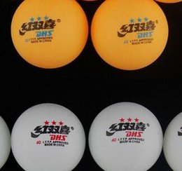 Wholesale stars DHS MM Olympic Table Tennis White Ping Pong Balls