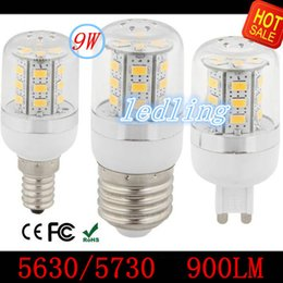 Warm Cool White E27 LED Bulbs Corn Bulb 9W 980 Lumen Cree SMD5730 5630 With Cover 24leds GU10 E14 B22G9 Led light+CE ROHS