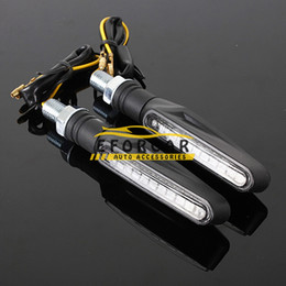 Wholesale Universal LED Motorcycle turn signals lights motorbike Indicator Blinkers Amber Light Lamp v Motorcycle Lights parts