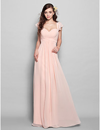 Bridesmaid Dress Floor-length Chiffon Sheath Column Sweetheart Dresses A Line With Wedding Party Dresses Formal Party Evening prom Dresses