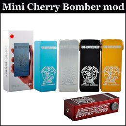 Wholesale Mini Cherry Bomber Box Mod Clone Cherry Bomber Mini box mod Magnetic Aluminum body use battery square box mods via DHL