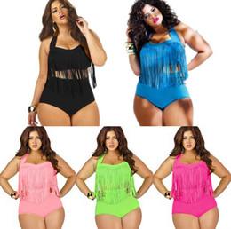 New Tassel bikini Swimwear Women's Sexy High waisted Push up fringe Bikini Womens Bathing Beach Swim Suit Wear Bikinis Plus Size Swimsuit