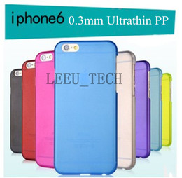 Wholesale iphone6 Plus Ultra thin transparent PP case Plastic Gel case Hard case mm Slim cell phone cover For iphone6 inch By DHL