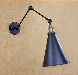 Wholesale Adjustable Arm Style Loft Industrial LED Wall Light Lamp Vintage Wall Sconce Lamparas De Pared Stair Light