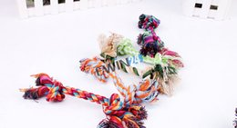 Trendy Pet Puppy Dogs Cotton Ropes Chews Toy Ball Play Braided Bone Knot For Fun 500pcs