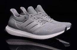 Wholesale Top quality summer autumn women mens fashion adds Ultra Boost Gray Mesh Breathability sports shoes running shoes drop shipping size