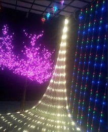 Rgb led net à vendre-US Stock! Meshwork 6W LED Net cordes lumières de Noël éclairage 1.5mx1.5m / 3mx2m / 6mx4m Lampe LED pour la décoration Xmas Party Lumière