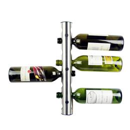Bastidores de almacenamiento de vino en Línea-2016 Creative Practical Wine Rack titulares de 8 agujeros Inicio barra de la pared botella de vino Display Stand Rack Suspensión Organizador de almacenamiento