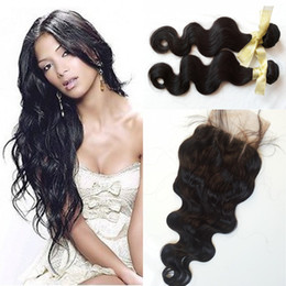 G-EASY Vietnamese Hair With Closure and Bundles 4PCS LOT body wave Hair With Closure Extensions Tissage Bresilienne Closure