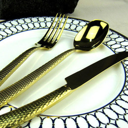 Wholesale Noble Snake Handle Gold Silver Plated Western Food Cutlery Stainless Steel Dinner Knife Fork Spoon Restaurant Table Flatware order lt no tra