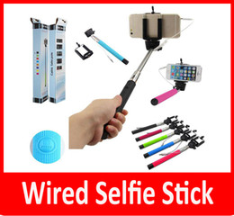 Wholesale Z07 plus z07 plus s Wired selfie stick Monopod groove monopods Self timer Shutter Clip for IOS Samsung