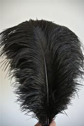Wholesale 100 pcs 16-18inch black ostrich feather plumes for wedding centerpiece decor party table decor costumes