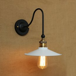 Metal Shade Wall Lamps Retro Industrial Delicate Iron wall sconce High-quality Metal Paint Black White Home Lighting