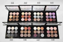 Wholesale Burgundy Eye Shadow X Times Nine Matte Satin Eyes Pro Color Compact Makeup Eyeshadow Palette
