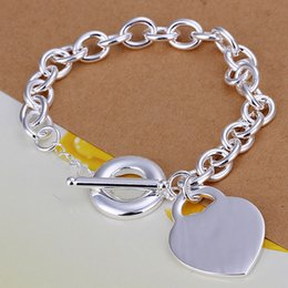 Hot sale best gift 925 silver Center licensing TO Bracelet DFMCH274, Brand 925 sterling silver plated Chain link bracelets high grade