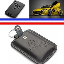 genuine leather key cover key wallets keychain key bag for Renault Clio Scenic Megane Duster Sandero Captur Twingo koleos keys