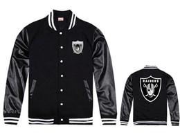 Wholesale 2016 new fashion men winter jackets coats raiders varsity baseball jacket leather sleeve hip hop jacket
