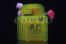 Original RSIM 10+ Puls+ Thin Card Unlock Card for iphone 6S Plus 6 5S 5 4S IOS7.X-9.X AT&T T-mobile Sprint CDMA
