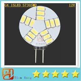 10x Mini G4 5730 15 LED Light 12V Chandelier Crystal 15led Lamp Home Reading RV Marine Boat Cabinet Car Interior Corn Bulb Lamp