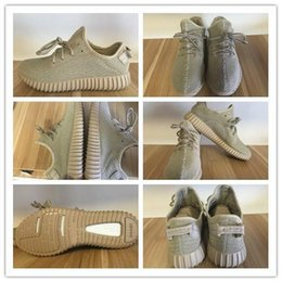 Wholesale Original Kanye West Yeezy Boost Light Stone Oxford Tan Light Stone AQ2661 Men s Sports Running Shoes Reasonable Price Size