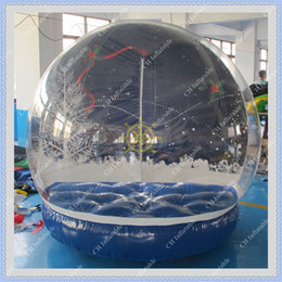 Wholesale Hot Sale Outdoor Christmas Photo Snow Globe meters Inflatable Christmas Snow Globe Fast Free Blower