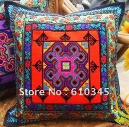 Wholesale China ethnic minority areas hand embroidery pillow cover cushion cover