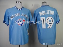 Wholesale 2015 New new Base Toronto Blue Jays paul Mitchell throwback men s MLB baseball cheap authentic sport stitched shirt white blue