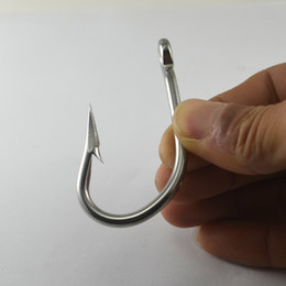 Wholesale hook purse Ultra Strong Tuna Hook Big Game Saltwater Sea Fishing Hooks Stainless Steel Thick Wire Barbed