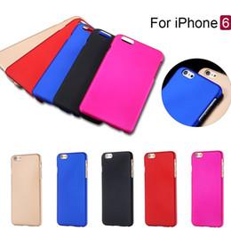 Wholesale I Moda Rubberized plástico funda de estuche duro para Apple Iphone casos de la contraportada de la piel casos de protección del teléfono para iphone plus