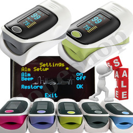 Wholesale Alarm Added color OLED Fingertip Pulsioximetro Pulse Oximeter Blood Oxygen SpO2 saturation oximetro monitor oxymetre ossimetro dededo