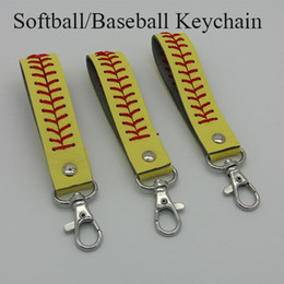 Wholesale Softball Baseball Coach Gifts Ideas with Leather Keychains