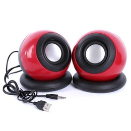 Wholesale USB System Power Wired Computer Speakers Magic Ball Mini Speaker Music Player for Desktop PC Laptops p0642