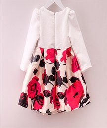 Wholesale Kids Girls Restoring Ancient Ways Blue And White Porcelain Dressses Full Of Chinese Style New Princess Pleated Autumn Winter Dresses