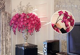 Wholesale The high quality Phalaenopsis artificial flowers Wedding Party Home Decoration Colors Available