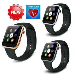 Promotion apple iphone montres intelligentes 2016 Smartwatch A9 Montre intelligente Bluetooth pour Apple iPhone Samsung Android Téléphone relogio smart reloj montre téléphone en stock