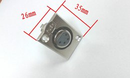 metal XLR 4-Pin Female Chassis Panel Mount Contacts adapter