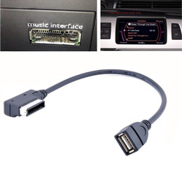 Wholesale Car Music Interface AMI MDI to USB Adapter Cable for Audi A3 A4 A5 A6 TT Jetta GTI GLI Passat CC Touareg EOS
