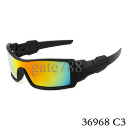 Wholesale High quality sunglasses Black framework Rainbow Lens Sunglasses Fashion man outdoor cycling glasses color Can choose