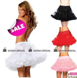Wholesale 2015 Cheap Mini Short Petticoats Color Underskirt for Prom Party Cocktail Wedding Pink Red Black White Skirt Bridal Accessories Christmas