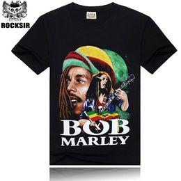 2015 men's fashion new style t shirt,100% cotton tshirt men,Bob Marley 3D printed tshirts man,hot sale t-shirt men!HA26