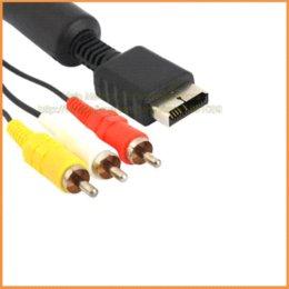 Acheter en ligne Câbles xbox av-Longueur: 180cm Remplacement Composite RCA Audio Vidéo Câble AV pour Sony PlayStation 3 PS3 PlayStation 2 PS2 Livraison gratuite