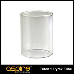 Original Aspire Triton 2 Pyrex Glass Tube Replacement Tank For 3ml Aspire Triton 2 Tank E Cigarettes Accessory Free Shipping