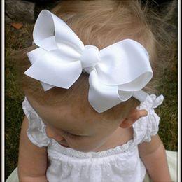 Christmas Baby Bowknot Flower Headbands Girl Flower hairbands Children Hair Accessories infant Hair Bow Headwear 10pcs